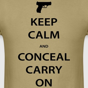Men's Keep Calm Conceal Carry, Black - Men's T-Shirt