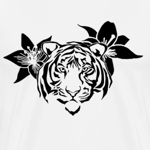 Lotus tiger T-shirt (BLACK PRINT) - NEKLEY`s speci - Men's Premium T-Shirt