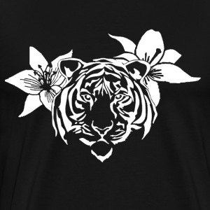 Lotus tiger T-shirt (WHITE PRINT) - NEKLEY`s speci - Men's Premium T-Shirt