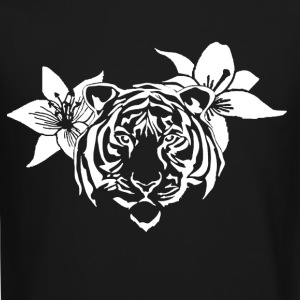 Lotus tiger sweater (WHITE PRINT) - NEKLEY`s speci - Crewneck Sweatshirt