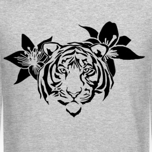 Lotus tiger sweater (BLACK PRINT) - NEKLEY`s speci - Crewneck Sweatshirt