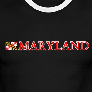 Maryland with Flag T-Shirts - Men's Ringer T-Shirt