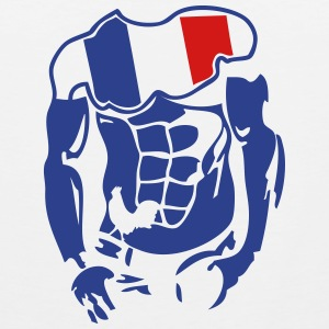 muscular body french flag 1 Sportswear - Men's Premium Tank