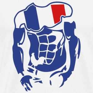 muscular body french flag 1 T-Shirts - Men's Premium T-Shirt