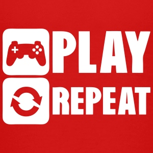 geek repeat play game joystick Kids' Shirts - Kids' Premium T-Shirt