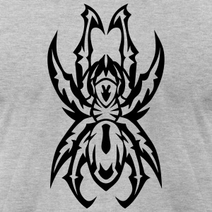 31013 spider tribal tattoo 77 T-Shirts - Men's T-Shirt by American Apparel