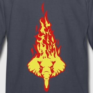 elephant fire flame head 310 Kids' Shirts - Kids' Long Sleeve T-Shirt