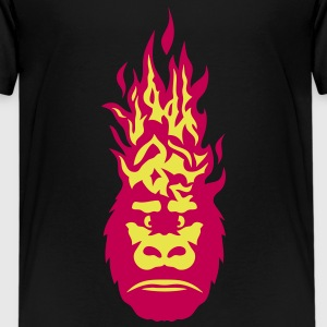 gorilla fire flame head 310 Kids' Shirts - Kids' Premium T-Shirt