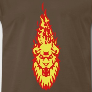 fire flame head lion 310 T-Shirts - Men's Premium T-Shirt