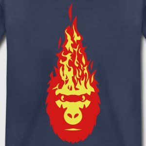 gorilla fire flame head 3102 Kids' Shirts - Kids' Premium T-Shirt