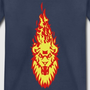 fire flame head lion 310 Kids' Shirts - Kids' Premium T-Shirt