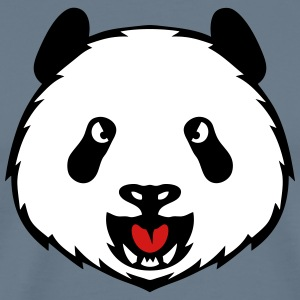 panda wild animal head 3105 T-Shirts - Men's Premium T-Shirt
