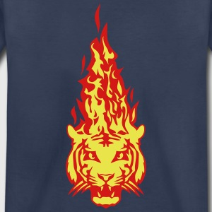 fire flame tiger head 310 Kids' Shirts - Kids' Premium T-Shirt