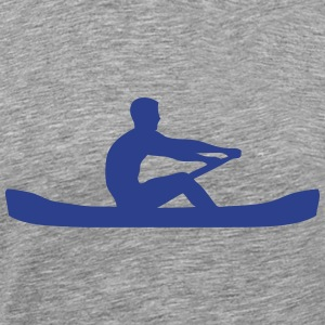 logo sports rowing oar 306 T-Shirts - Men's Premium T-Shirt