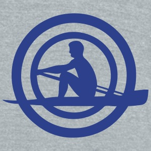 logo sports rowing oar man 30632 T-Shirts - Unisex Tri-Blend T-Shirt by American Apparel