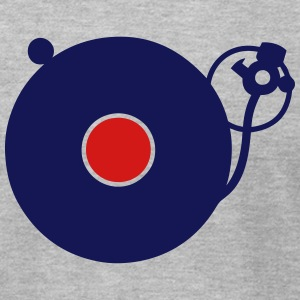 turntable disco music instrument turns 3 T-Shirts - Men's T-Shirt by American Apparel