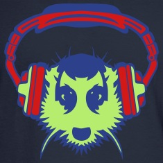 meerkat mouth audio music headphones Long Sleeve Shirts