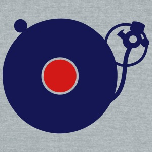 turntable disco music instrument turns 3 T-Shirts - Unisex Tri-Blend T-Shirt by American Apparel