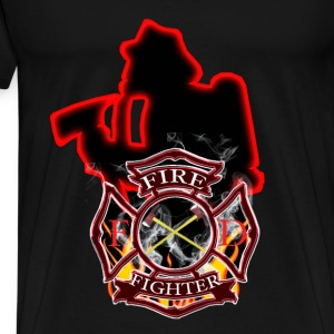 Firefighters are first in and last out - Men's Premium T-Shirt