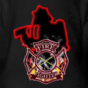 Firefighters are first in and last out - Short Sleeve Baby Bodysuit
