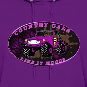 Country Gals like it muddy - Women's Hoodie