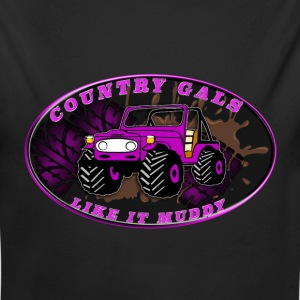 Country Gals like it muddy - Long Sleeve Baby Bodysuit