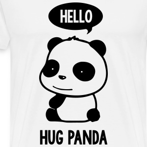Panda Hello - Men's Premium T-Shirt