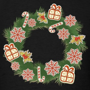 Christmas Wreath - Men's T-Shirt