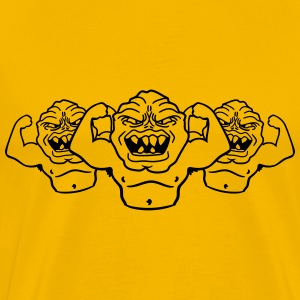 team buddies monster bodybuilder muscles strong me T-Shirts - Men's Premium T-Shirt