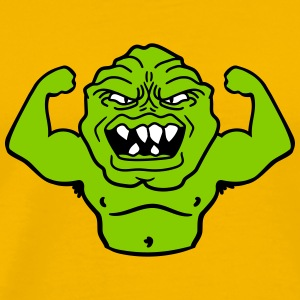 monster bodybuilder muscles strong man Muckis hulk T-Shirts - Men's Premium T-Shirt