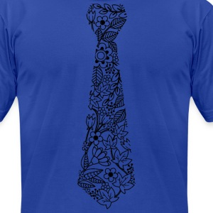 Floral Necktie - Men's T-Shirt by American Apparel