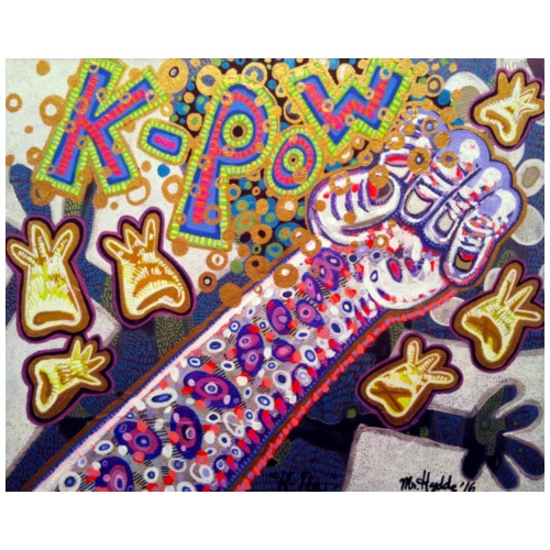 K-Pow - 16×20 acrylic on canvas 2016touch up for t
