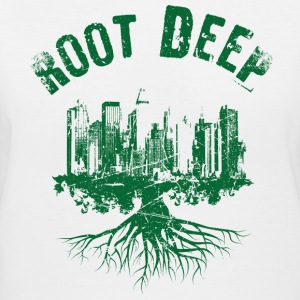Root deep urban green Women's T-Shirts - Women's V-Neck T-Shirt