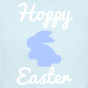 Hoppy Easter 1 Blue Baby Bodysuits - Short Sleeve Baby Bodysuit
