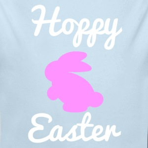 Hoppy Easter 1 Pink Baby Bodysuits - Long Sleeve Baby Bodysuit