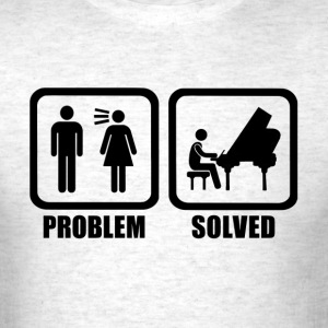 Funny Piano Problem Solved - Men's T-Shirt