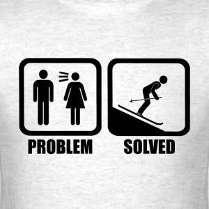 Funny Skiing Problem Solved - Men's T-Shirt