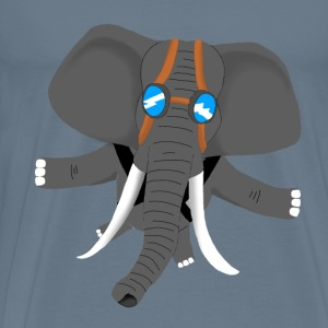 Flying Elephant - Men's Premium T-Shirt