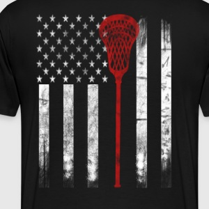 Lacrosse Flag - Men's Premium T-Shirt