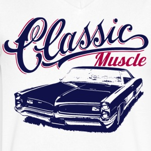 muscle car design T-Shirts - Men's V-Neck T-Shirt by Canvas
