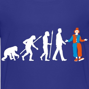 evolution_of_man_clown01_3c Kids' Shirts - Kids' Premium T-Shirt