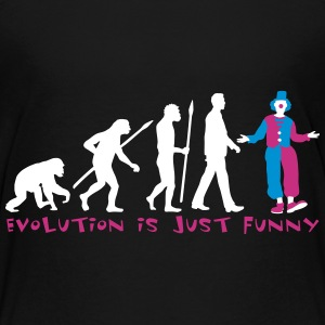 evolution_of_man_clown03_3c Kids' Shirts - Kids' Premium T-Shirt