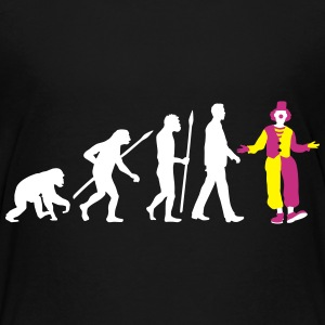 evolution_of_man_clown02_3c Kids' Shirts - Kids' Premium T-Shirt