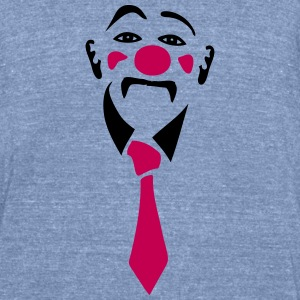 circus clown 406 T-Shirts - Unisex Tri-Blend T-Shirt by American Apparel