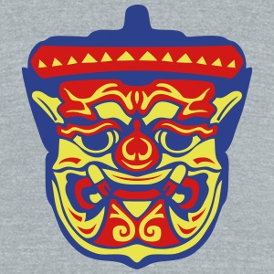 bangkok statue mask  1 T-Shirts - Unisex Tri-Blend T-Shirt by American Apparel