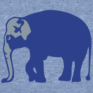 wild animal elephant trunk 8 T-Shirts - Unisex Tri-Blend T-Shirt by American Apparel