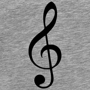 treble clef music notes T-Shirts - Men's Premium T-Shirt