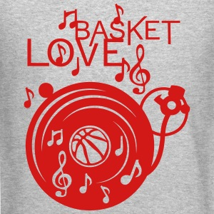 love basketball turntable turns 33 music Long Sleeve Shirts - Crewneck Sweatshirt