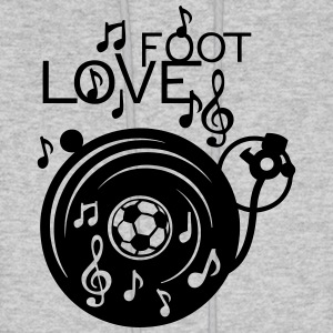 love soccer turntable turns 33 music not Hoodies - Men's Hoodie