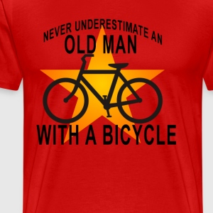 bicycle_old_man_ - Men's Premium T-Shirt